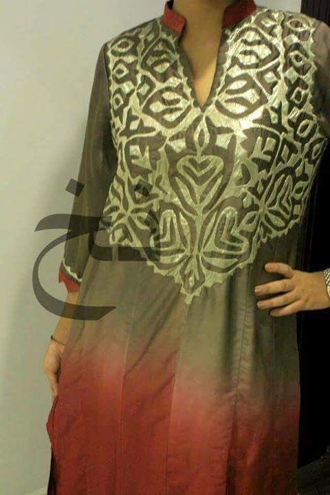 Sindhi embroidery hand made suit pakistani dresses