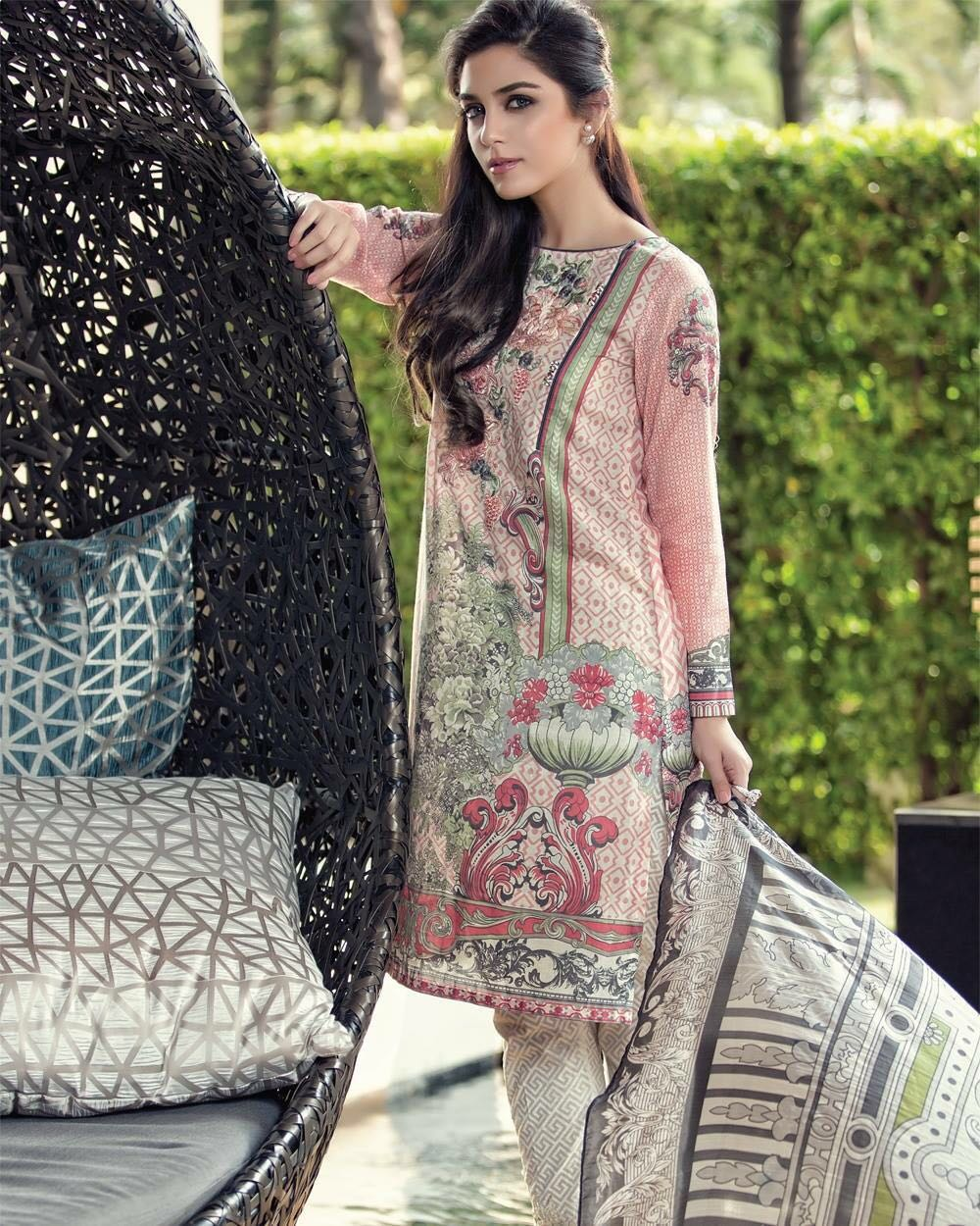 Embroidered 3 piece lawn suits