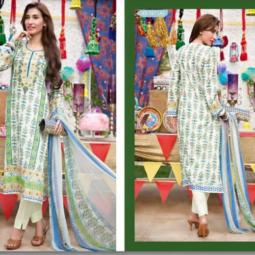 Original Rana Art Lawn Suit