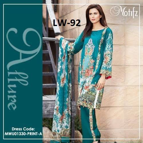 Motifz Embroidered Summer Lawn