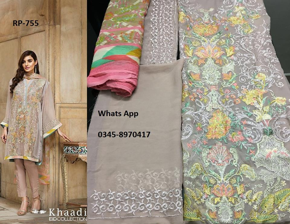Khaadi Chiffon Dresses Collection For Eid 2016