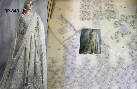 Latest Chiffon White Bridal Wear