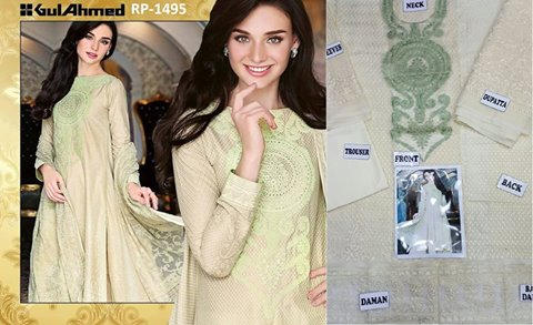 Gul Ahmed Emb Chiffon Dress