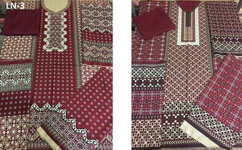 Latest Ajrak Dress Design