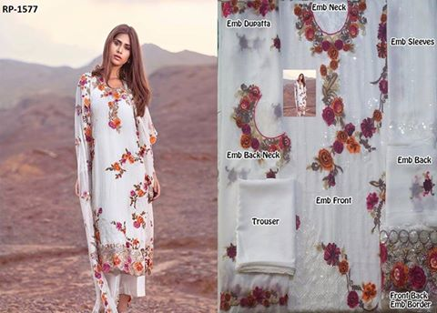 Mina Hasan Latest Chiffon Suit
