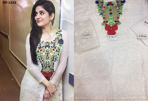 SANAN BALOCH EMBROIDERED NET DRESS