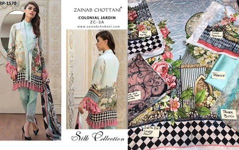 Zainab Chotani Silk Suit Now Available