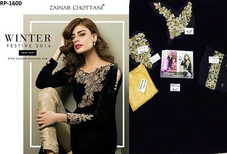 Zainab Chottani Velvet Winter Collection