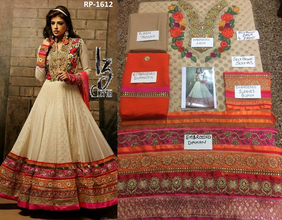 Indian Chiffon Embroidered Frock