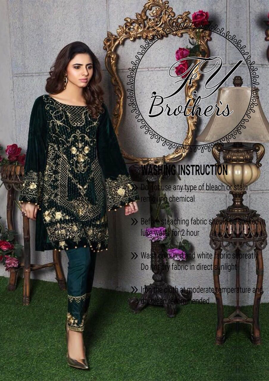 Gulaal Velvet Dress Collection 2018