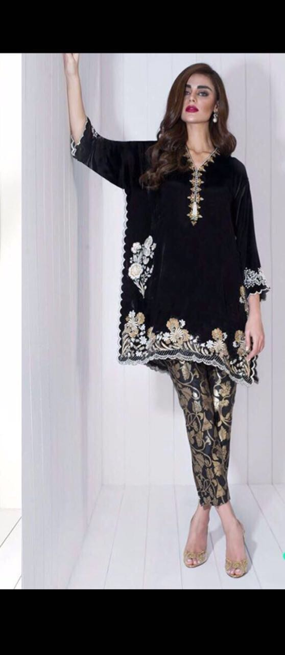 Zainab Chottani Velvet Dress Collection 2018