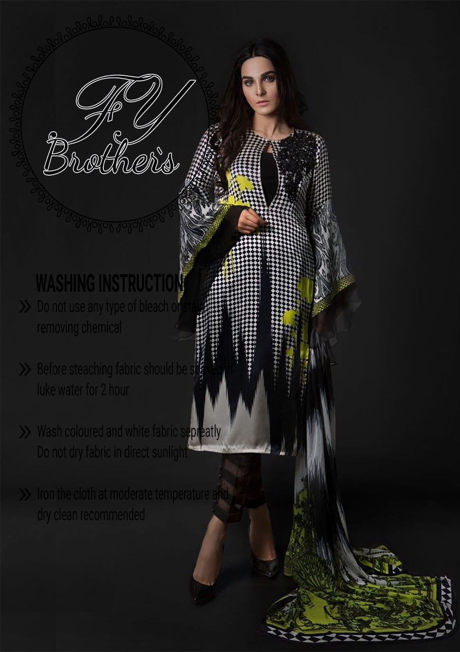 Maria B Silk Dress Collection 2018