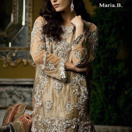 Maria B Chiffon Bridal Dress 2018