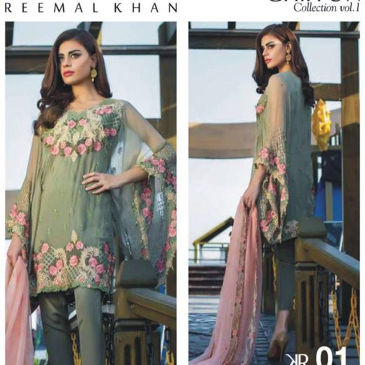 Remal Khan Chiffon Collection 2018