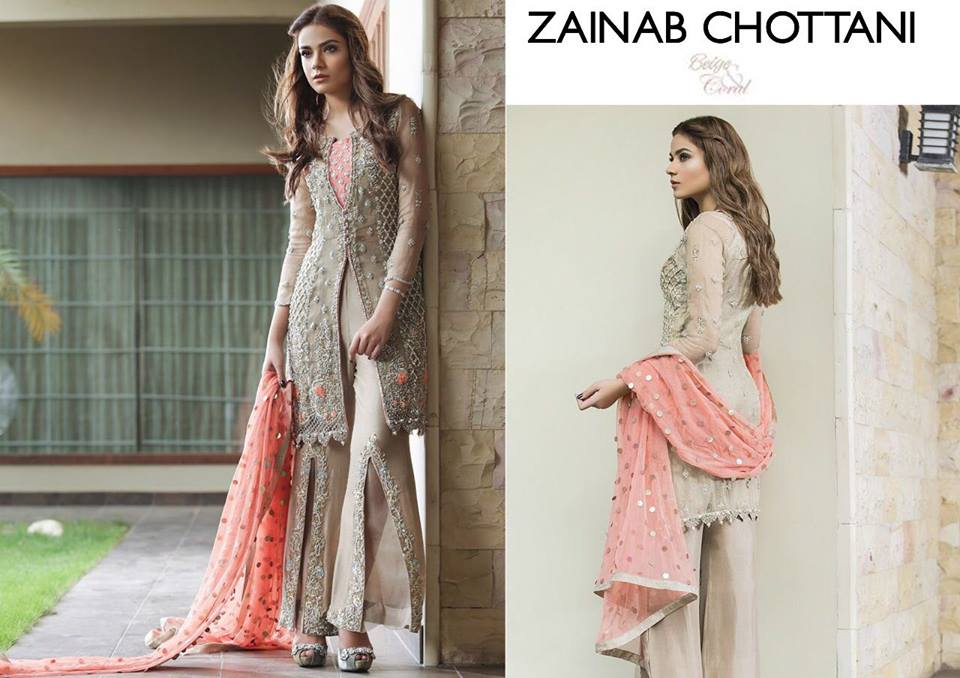Zainab Chottani Party Wear 2018 Pakistani Dresses