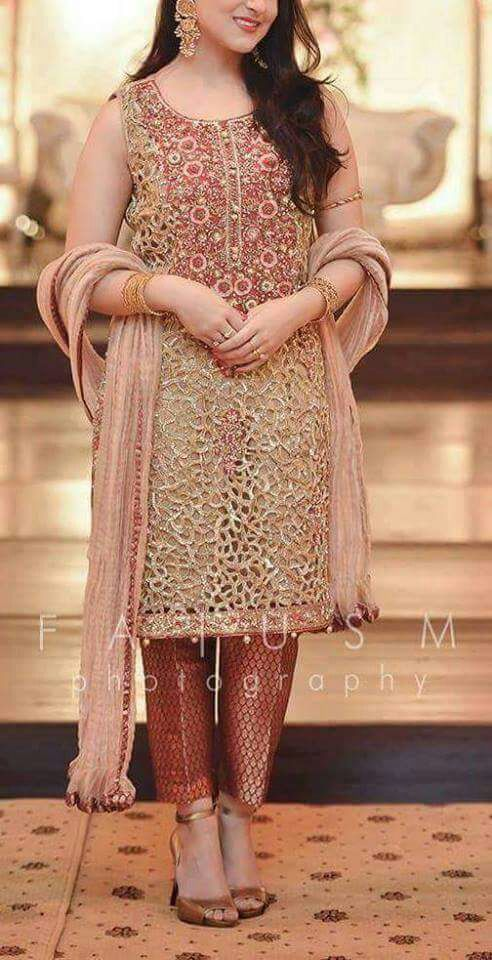 Irfan Ahsan Bridal Cutwork Suit 2018