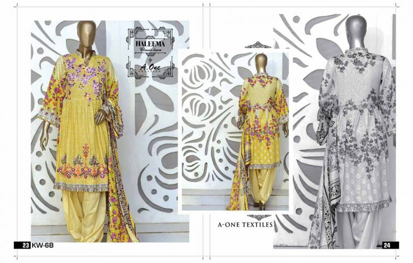 Haleema Vo1 Lawn Collection 2018