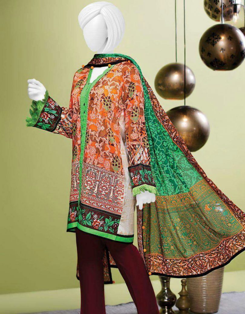 J.Lawn Suit Cotton Net Duppata