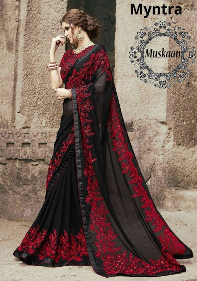 Myntra Chiffon Saree 2018 Pakistani Dresses Marketplace