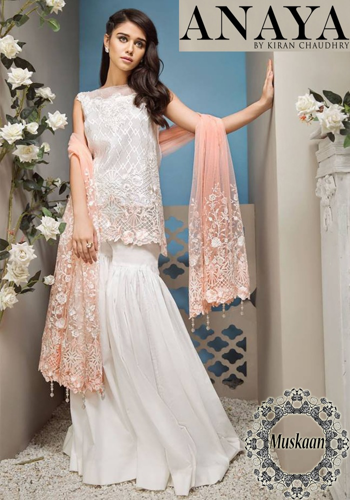 Anaya Chaudry Lawn Collection 2018