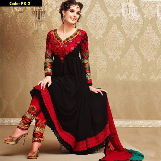 Indian Chiffon Frock 2018
