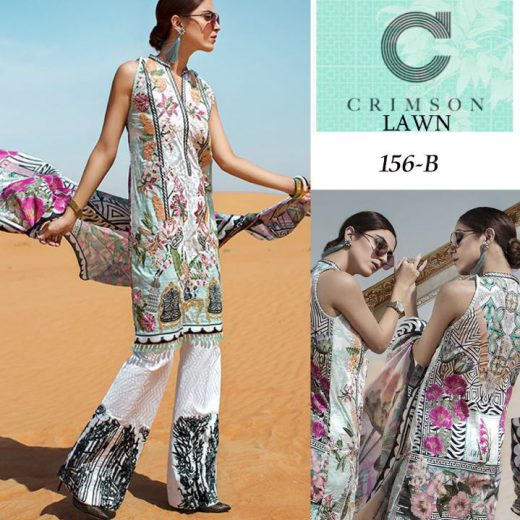 Crimson Latest Lawn Suit 2018