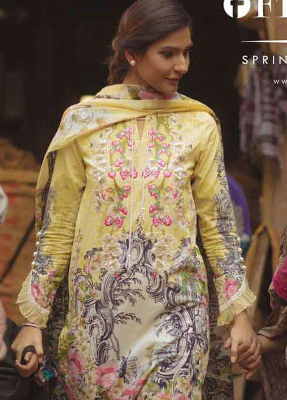 Firdous pinted lawn Collection 2018