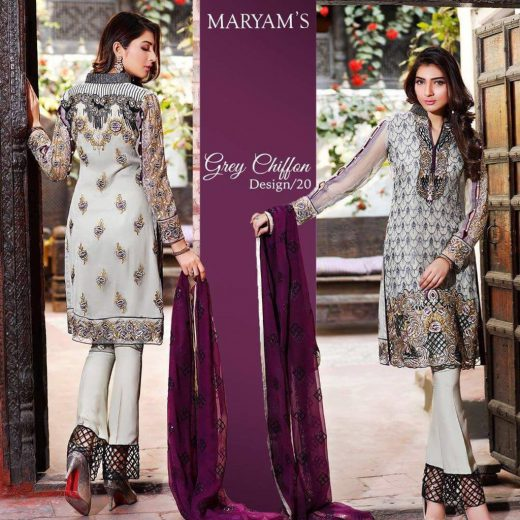 Maryams Eid Chiffon Collection 2018