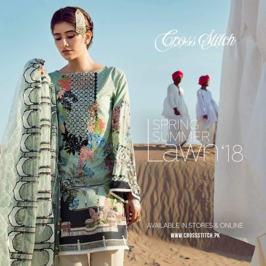 Cross Stich Lawn Eid Collection 2018