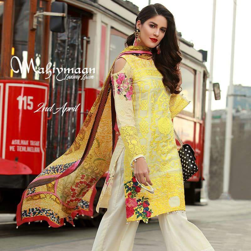 Mahiymaan Luxury Lawn Collection 2018