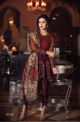 Maria B Chiffon Dress Collection 2018
