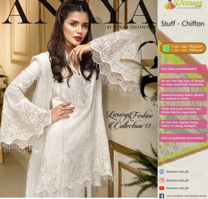Anaya By Kiran Chaudhry Chiffon Collection 2018