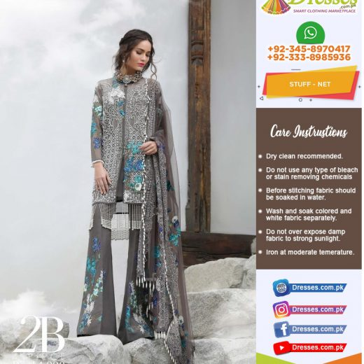 Sana Safinaz Net Suit Collection 2018