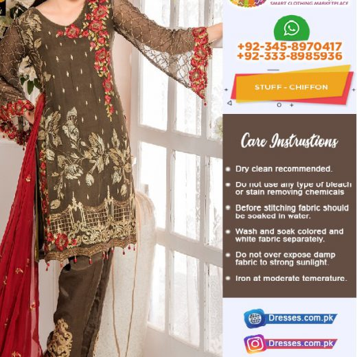 Maryams Chiffon Suit Collection 2018