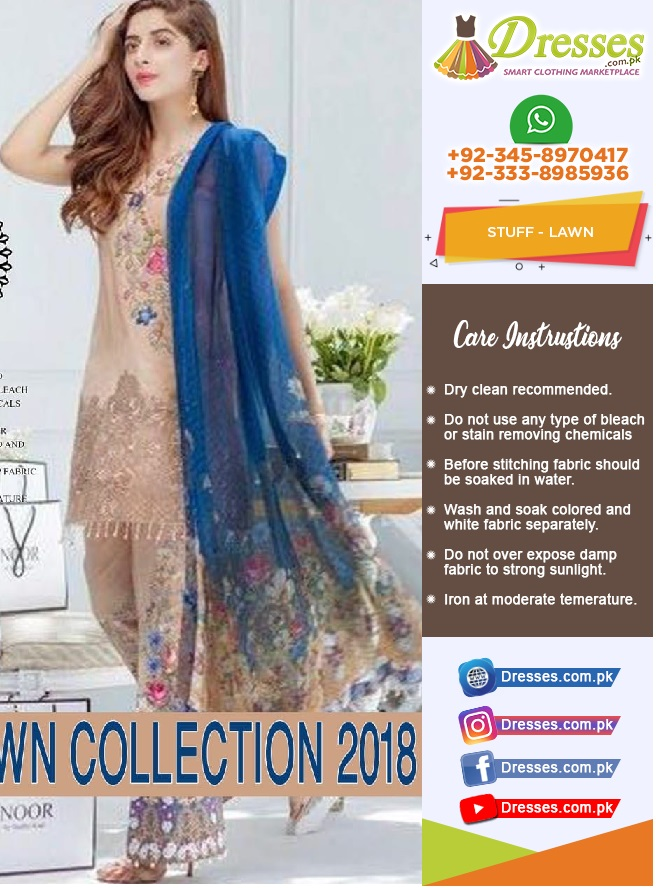 Noor Lawn Suit Collection 2018