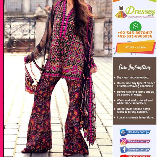 Mina Hasan Lawn Suit Collection 2018