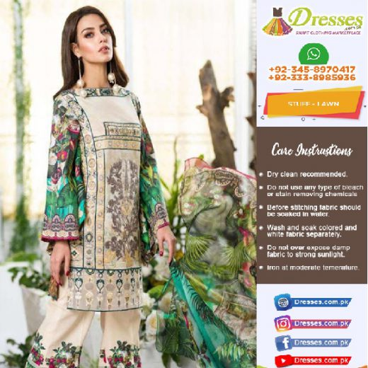 Asifa Nabeel Eid Lawn Suit Collection 2018