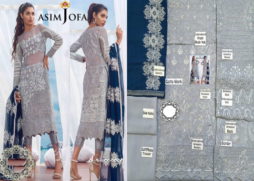 Asim Jofa Chiffon Collection 2018