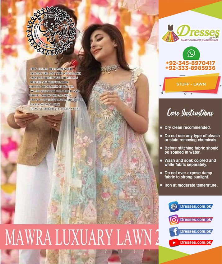 Mawra Hucaine Lawn Collection 2018