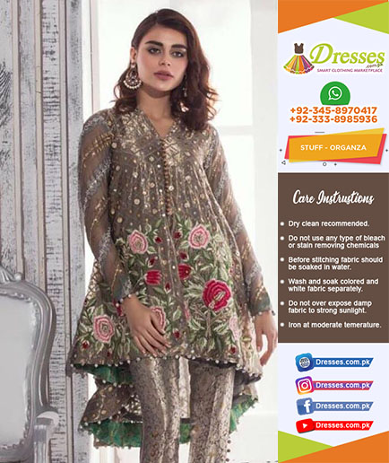 Anus Abrar Organza And Net Suit 2018