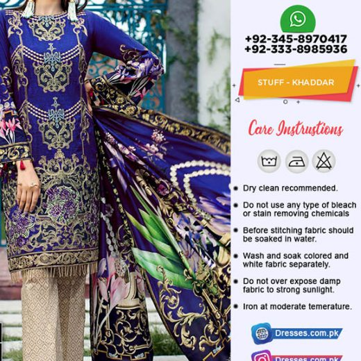 Jazmin Khaddar Collection 2018