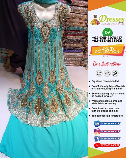 Pakistani Wedding Dress Kundan Work