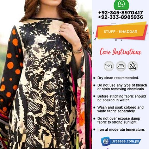 CHARIZMA NARANJI Khaddar Collection 2019