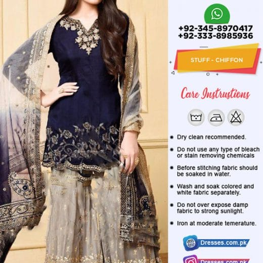 Pakistani Latest Chiffon Suit 2019