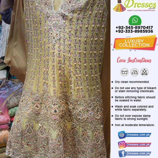 Pakistani Wedding Dresses With Stone and Kundan Work