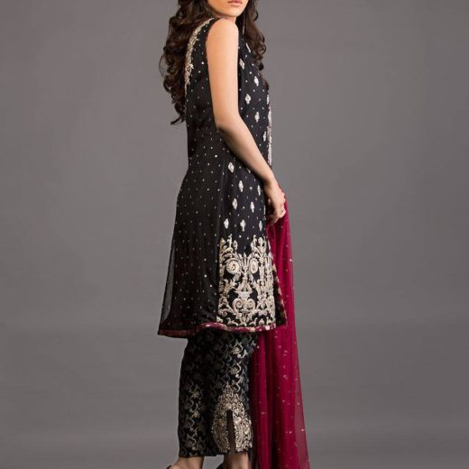 Zainab Chottani Black and Burgundy