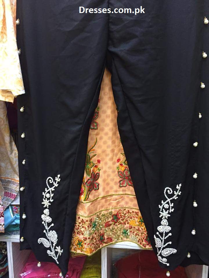 Tulip Pants With Embroidery