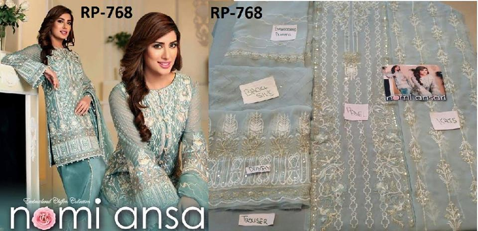 Nomi Ansari Embroidered Chiffon Collection 2016
