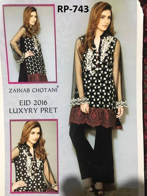Best dress Zainab Chottani Eid-ul-Adha Pret Collection 2016