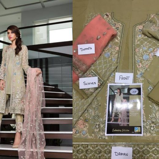 Baroque New Collection Chiffon Suit